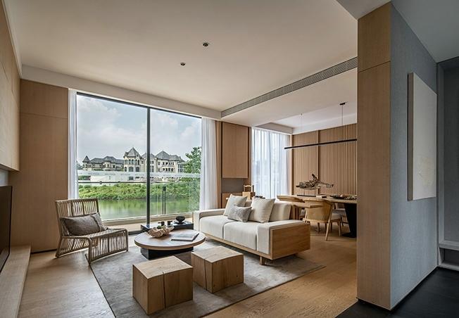 全木仿古偏日式创意家居别墅,简约独蕴的向心生活